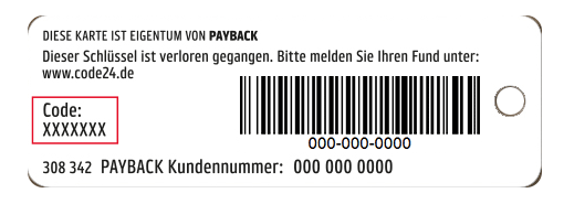 Payback Mini Karte.Code24 Ihr Lost And Foundservice Für Wertgegenstände